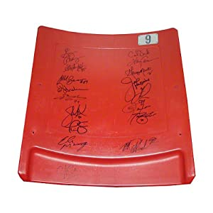NFL New York Giants 17 Signature Giants Greats Authentic Meadowlands Seatback by Steiner Sports