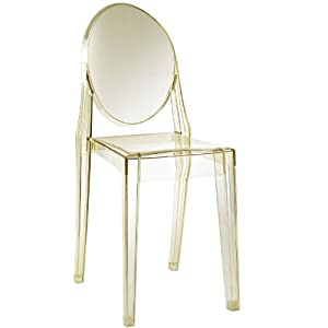 Amazon.com - Modern Baroque Dining Chair in Clear Yellow - Dining ...