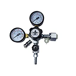 HomeBrewStuff Draft Beer Co2 Regulator Dual Gauge