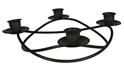 Advent Wreath Candle Holder Dark Brown Metal 10x10 Inches