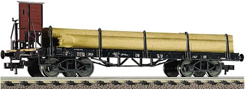 Fleischmann 528505 DB Four Axle Stake Wagon with Brakeman's Cab III