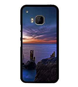 printtech Scenic Ocean Sunset Back Case Cover for HTC One M9::HTC M9