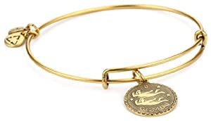 "Alex and Ani ""Bangle Bar"" Rafaelian Gold Finish Gemini Bracelet"