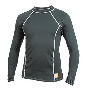 Hyperflex Wetsuits Mens Polyolefin 50 50 L S Rash Guard by Hyperflex