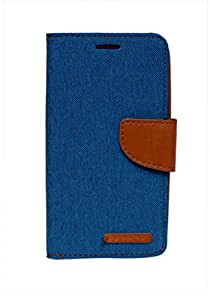 Mobi Fashion Diary Flip Cover For Samsung Galaxy J1 - Blue