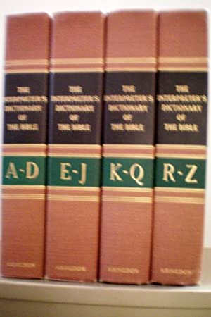 The Interpreter's Dictionary of the Bible -- 4 Volumes -- 1962 -- Abingdon Press -- as shown