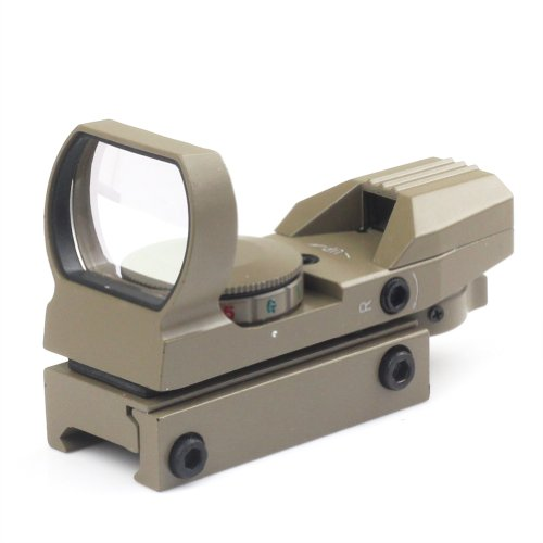 Very100 Tan Holographic Reflex 4 Reticle Red/Green Dot Sight Scope 21Mm Rail Mount