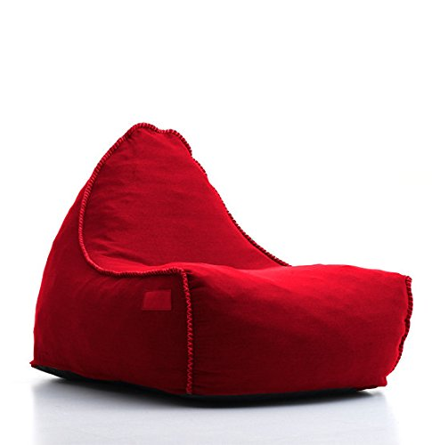 цена на Compressed Foam Red Polyester Structured Beanbag Chair