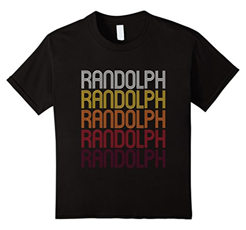Kids Randolph, WI | Vintage Style Wisconsin T-shirt 8 Black (Randolph Wi compare prices)
