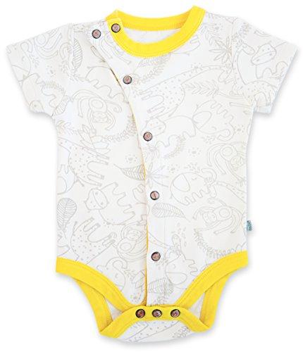 Finn + Emma Baby Neutral Organic Cotton Short Sleeve Bodysuit 9-12M - Jungle front-10891