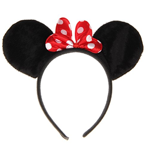 2PC Minnie Mouse Headband Polka Dot Headband Ears Costume Set