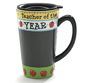 Teacher Of The Year Travel Coffee Mug Great Teacher's Gift