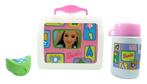 Thermos Barbie Clear Plastic Girls Lunchbox (Water Bottle Included)