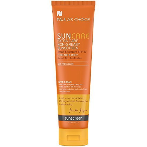 Paula's Choice Extra Care Non-Greasy Sunscreen SPF 50 Water Resistant for Face and Body with Antioxidants - 5 oz by Paula's Choice