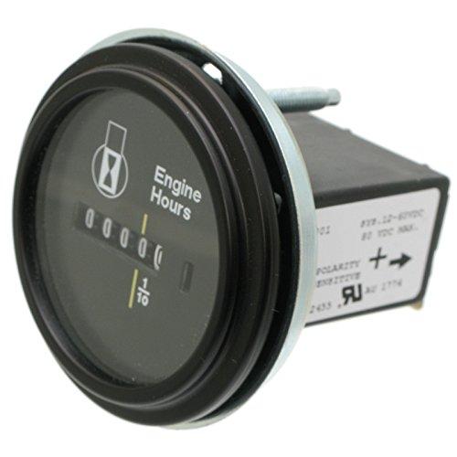 2 Round 12 Volt Hour Meter : Teleflex hobbs hour meter inch round dc engine universal