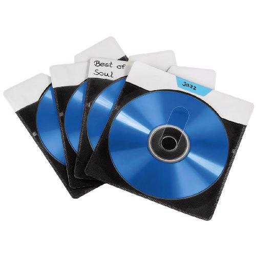 """Hama CD-/DVD Doppel-Schutzhüllen """"Rite-on"""" 54 Stück (50 Stück schwarz, 4 Stück farbig)"""