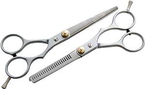 Am-Tech Lot de 2 paires de ciseaux de coiffure droits et sculpteurs (Import Grande Bretagne)