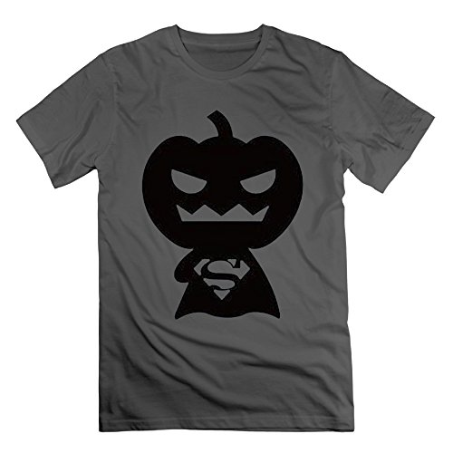 [Men's New Arrival Halloween Superman Costumes Tshirt Size M Color DeepHeather] (Super Nerdy Costume)