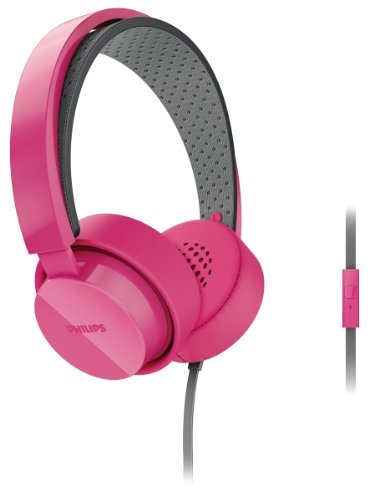 Philips Citiscape Metro Shl5205Pk Shibuya Series On-Ear Headphones Stereo Headset With In-Line Microphone (Pink Shl5200 + Mic)