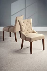 High Quality Upholstered Scoop Back Dining Chair BEIGE  TORINO       reviews and more information