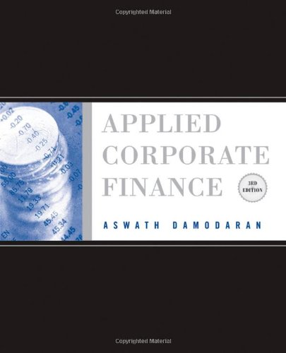 Applied Corporate Finance A Users Manual