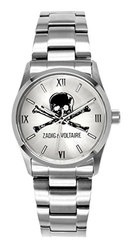 Zadig Voltaire ZV &001/FM-Rock Unisex Watch Analogue Quartz Silver Dial Silver Steel Strap