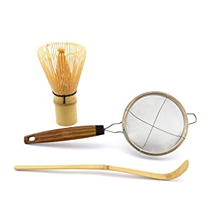 Bamboo Matcha Whisk Set by Pumeli - Essential Tools for Clump Free Tea