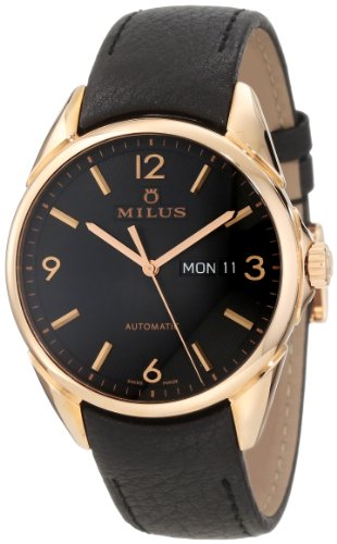 Milus Men's TIRC400 Stainless Steel with Black Dial Watch