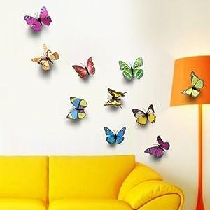 walplus adesivi da parete sticker murali con farfalle