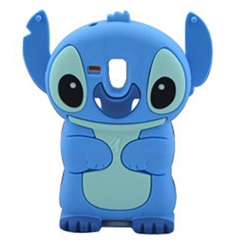6049923d05ee4 Bleu 3D Disney Stitch Étui Coque En Silicone Pour Samsung Galaxy S3 Mini  i8190