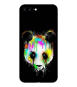 Evaluze panda Printed Back Cover for APPLE IPHONE 7 PLUS