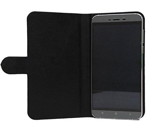 Prevoa ® ?ZOPO Speed 7 Hülle - Flip PU Hülle Case Schutzhülle Tasche für ZOPO Speed 7 4G 3G 5 Zoll Android 5.1 IPS-Schirm Smartphone - (Schwarz)