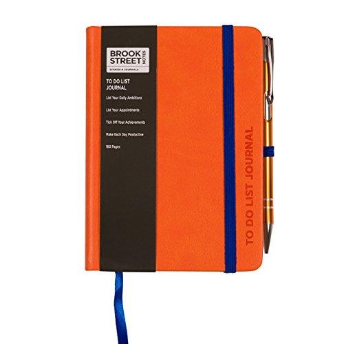 Taccuino con lista delle cose da fare, formato A6 A6 Arancio brillante
