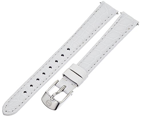 MICHELE MS12AA010100 12mm Leather Alligator White Watch Strap