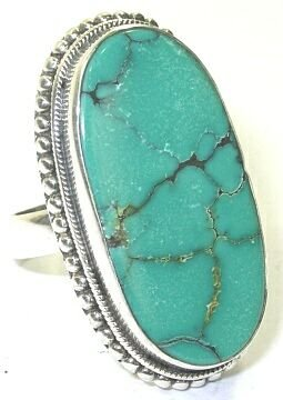 Size 9 Turquoise & Sterling Silver Ring
