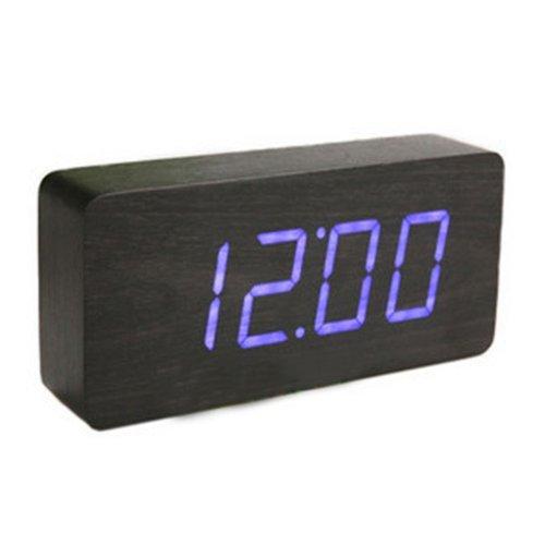 kabb-black-wood-grain-blue-led-light-alarm-clock-time-temperature-and-date-sound-control-latest-gene