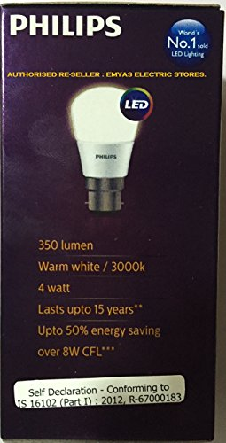 Ace Saver 4W 3000K B22 LED Bulb (Warm White)