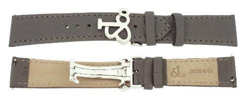 Jacob & Co. Genuine Real Satin Dark Grey Short Band Strap 20SMM 40MM Watch