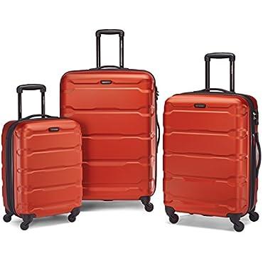 Samsonite Omni Hardside Luggage Nested Spinner Set 20, 24, 28 (Burnt Orange)