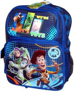 Disney Toy Story 3 Buzz Lightyear Woody Rex Bullseye Hamm Large Backpack