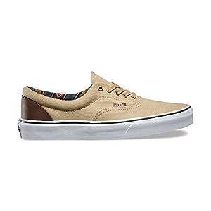 Vans Era (Indo Pacific) Khaki/True White Skate Shoes (9.5 D(M) US WOMEN / 8 D(M) US MEN)