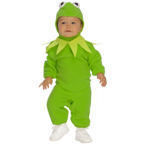 NEW Child Infant Size Kermit The Frog Romper Costume Licensed Muppets Outfit