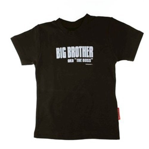 Big Brother Aka The Boss T-Shirt 4T Black front-991020