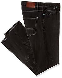 Breakbounce Men's Slim Jeans (8907066043007_Logan- S_34W X 32L_Black)