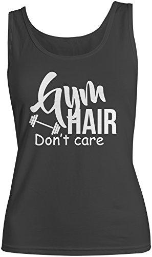 Gym Hair Don't Care Donna Tank Top Canotta Nero Medium