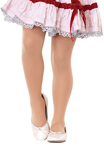Girls Opaque Nude Tights - Child Large (7-10)