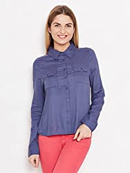 BLUE SOLID SHIRT