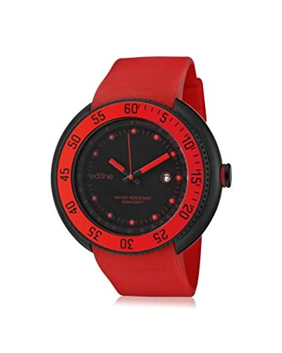 red line Men's 50039-BB-01-RD Driver Red Silicone Watch