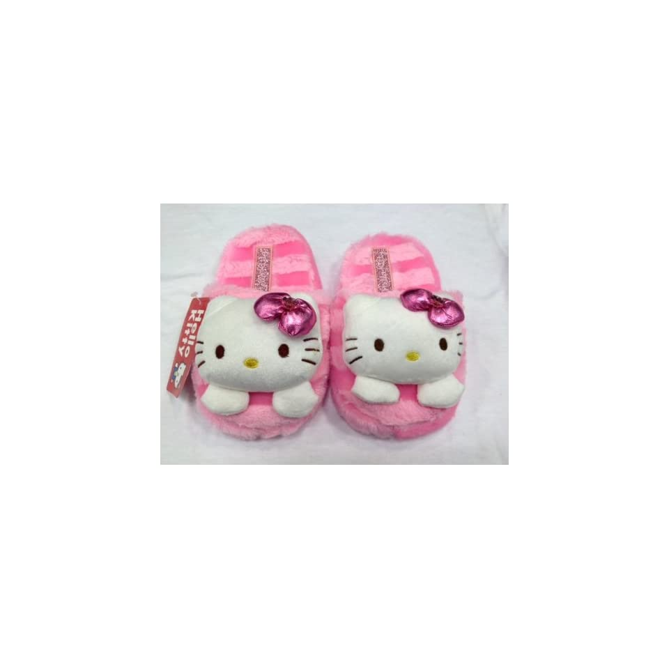 Cute Sanrio Hello Kitty Plush Slipper (kids size up to 7.5 long)