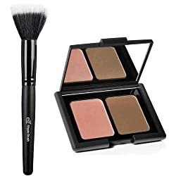 elf Studio Contouring Blush & Bronzing Powder and Stipple Brush